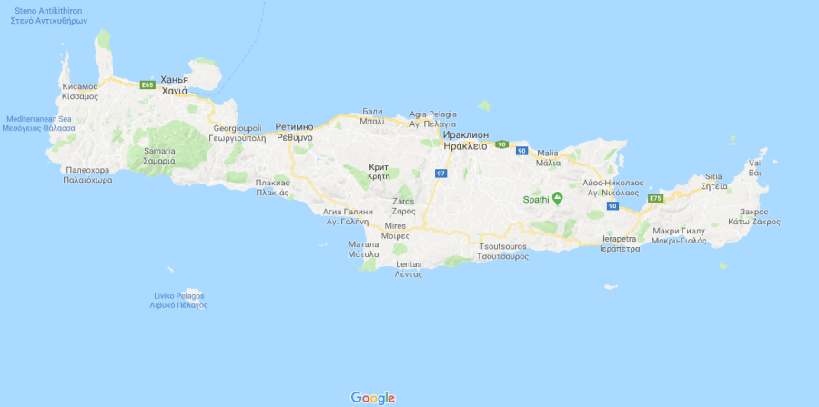 Греция - карта курортов