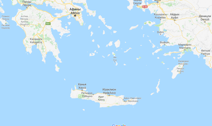 Карта Греции: Халкидики