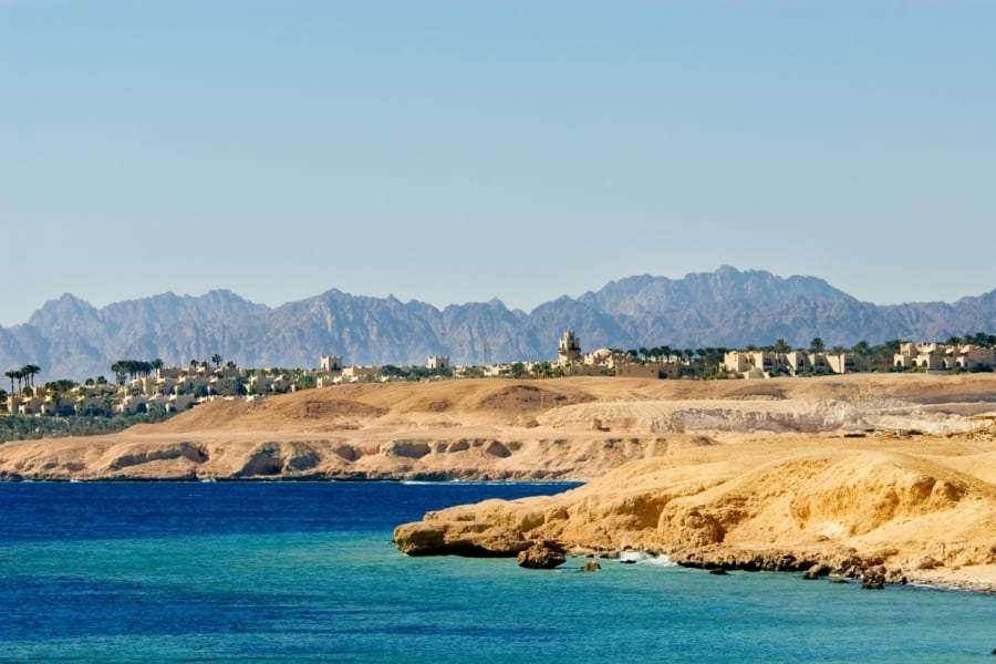 Курорт в Египте, вид с моря
