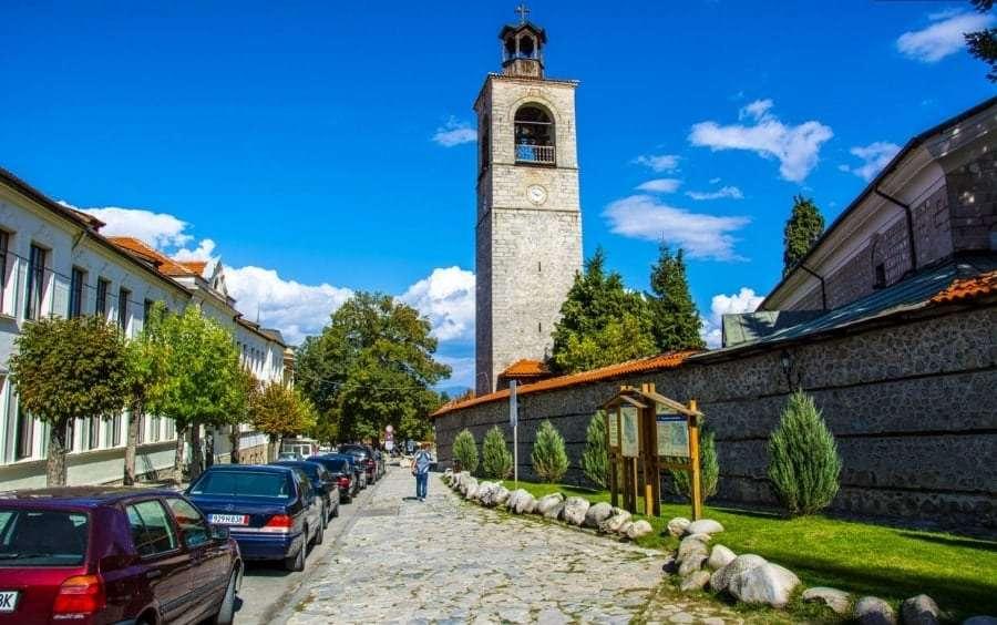 Центр города Банско летом