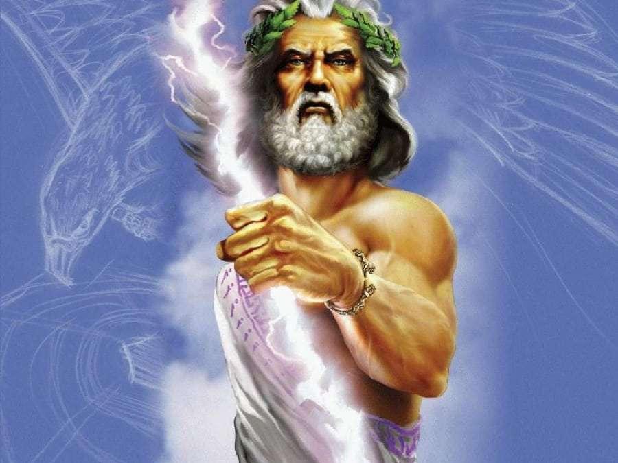 Бог неба, грома и молний Зевс