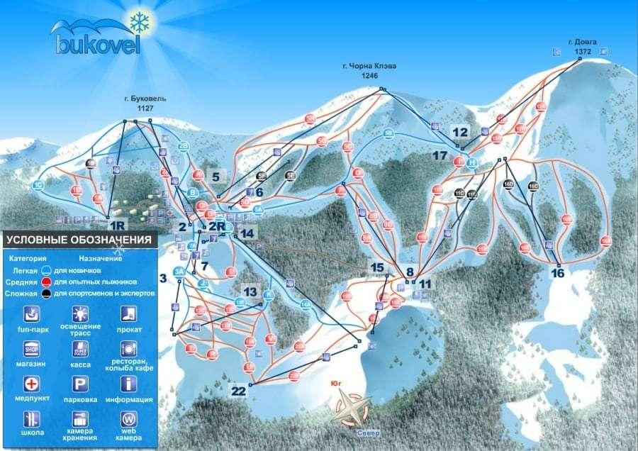 Карта Карпат - Radisson Blue Resort Bukovel