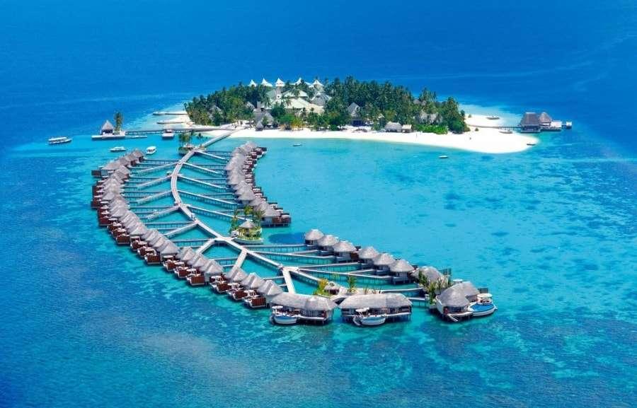 Мальдивские острова на карте