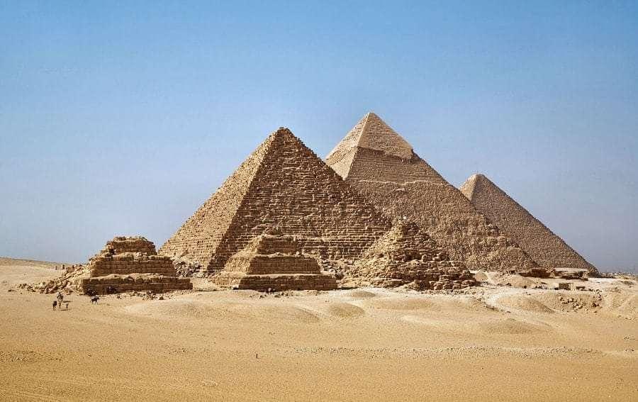 Пирамиды Египта на карте