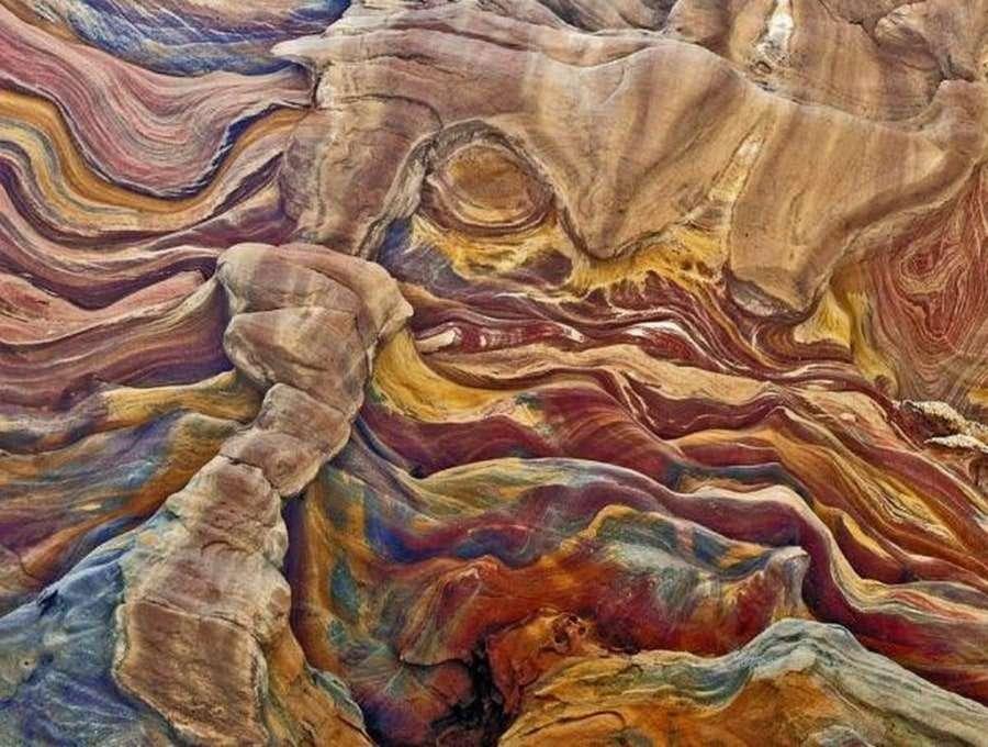 Цветная стена каньона