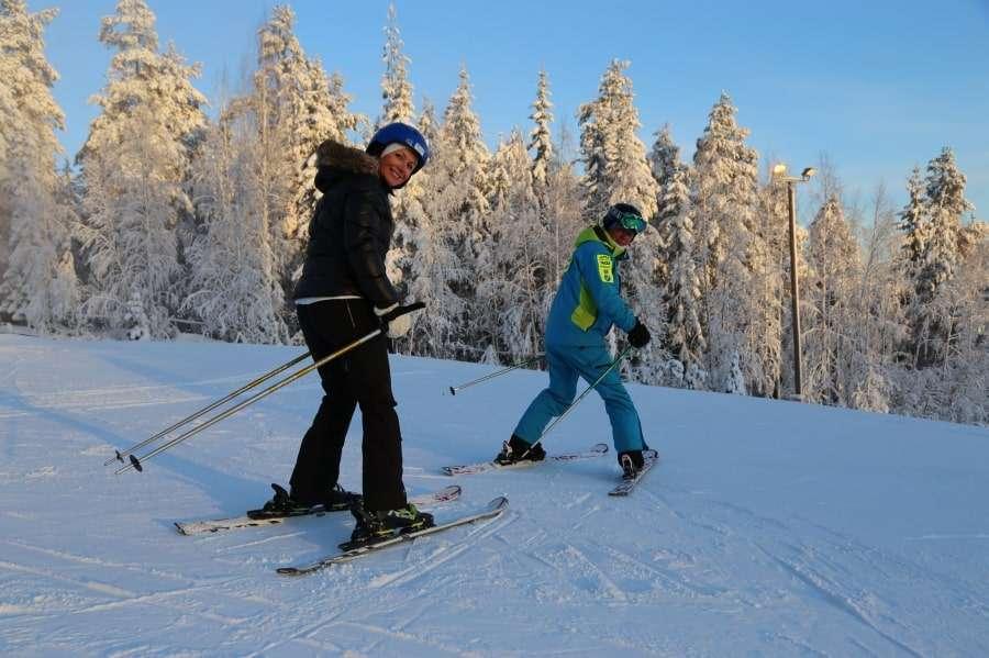 Катание на лыжах в Финляндии