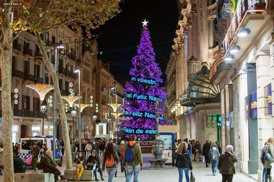Новогодняя Барселона