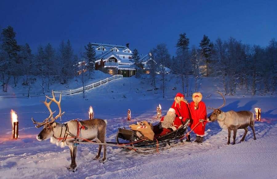 Новый год у Деда Мороза в Финляндии