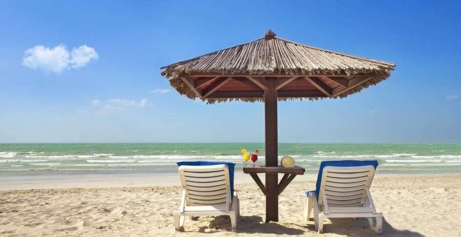 Пляжи Шарджи на карте