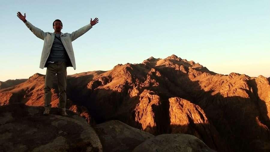 Фото туриста на горе Моисея