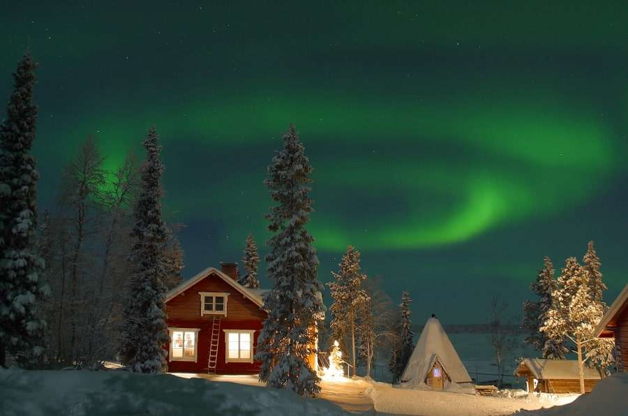 Свереное сияние, Финляндия