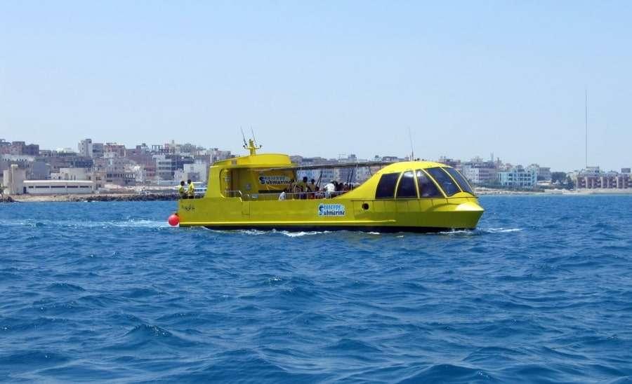 Лодка Sea Scope в Египте
