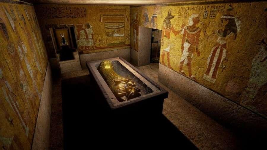 Египетская пирамида изнутри