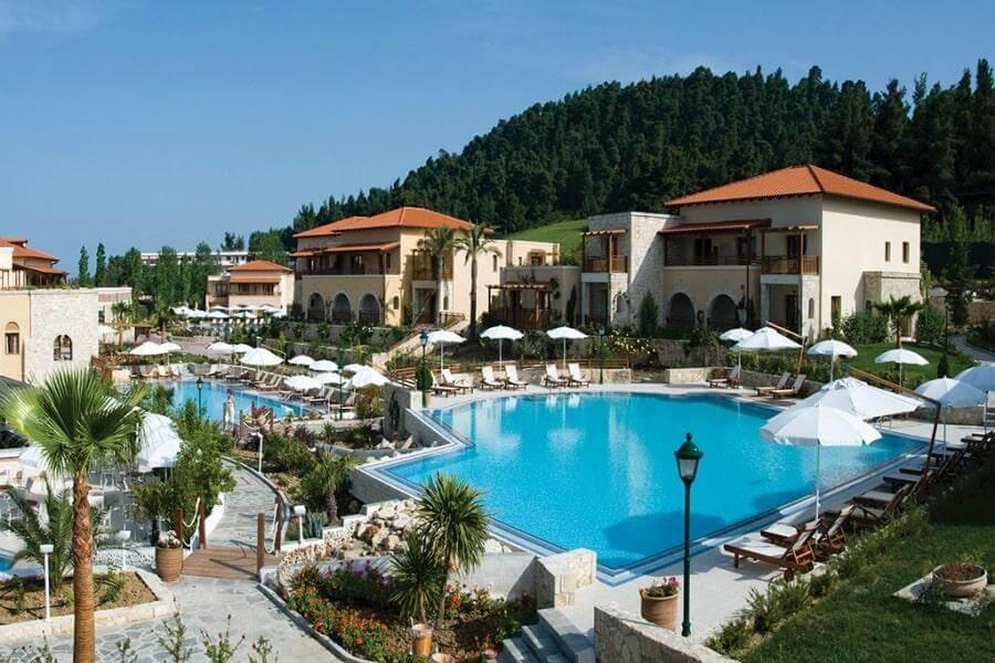 Фото 5-звездочного отеля Aegean Melathron Thalasso Spa Hotel в Халкидики-Кассандре, Греция