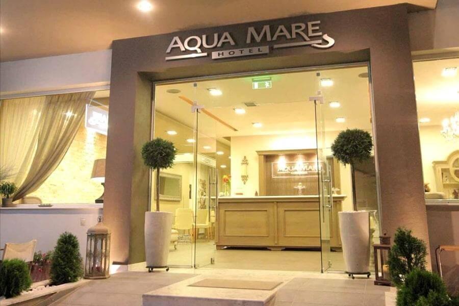 Вход в отель Aqua Mare 3*, Халкидики-Калликратия