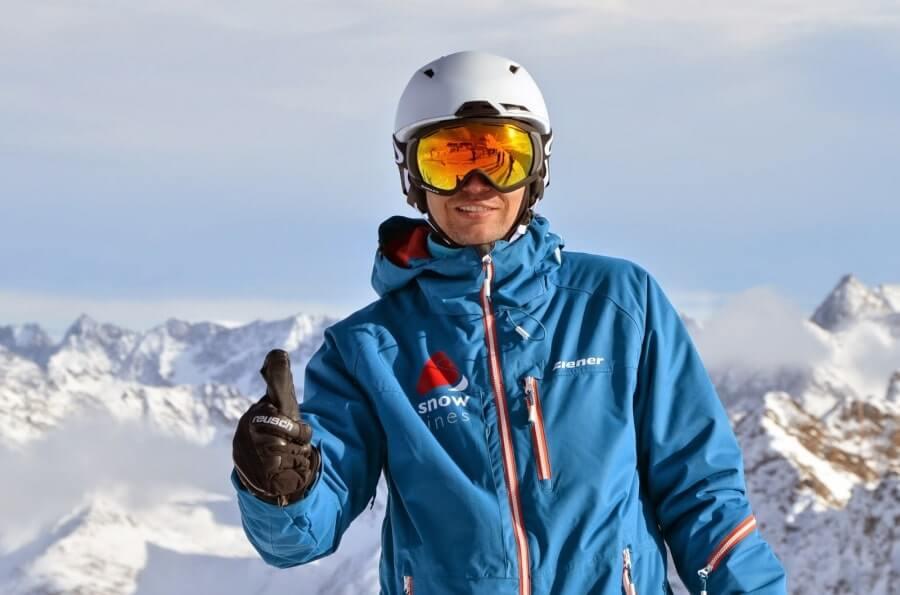 Довольный сноубордист