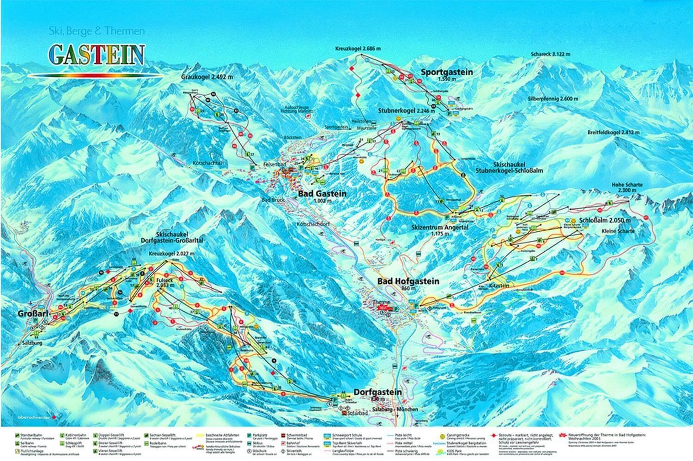 Карта австрийский горнолыжных курортов