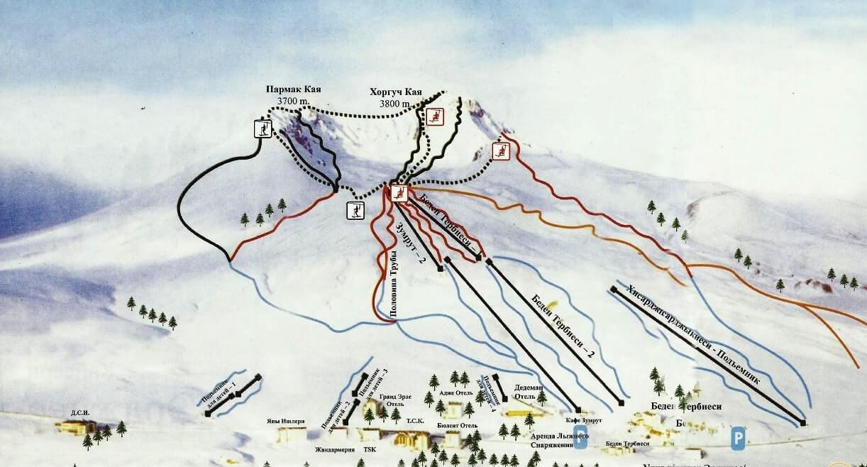 Карта трасс в Эрджиесе