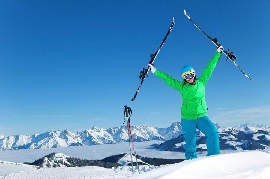 Лыжница в Австрии