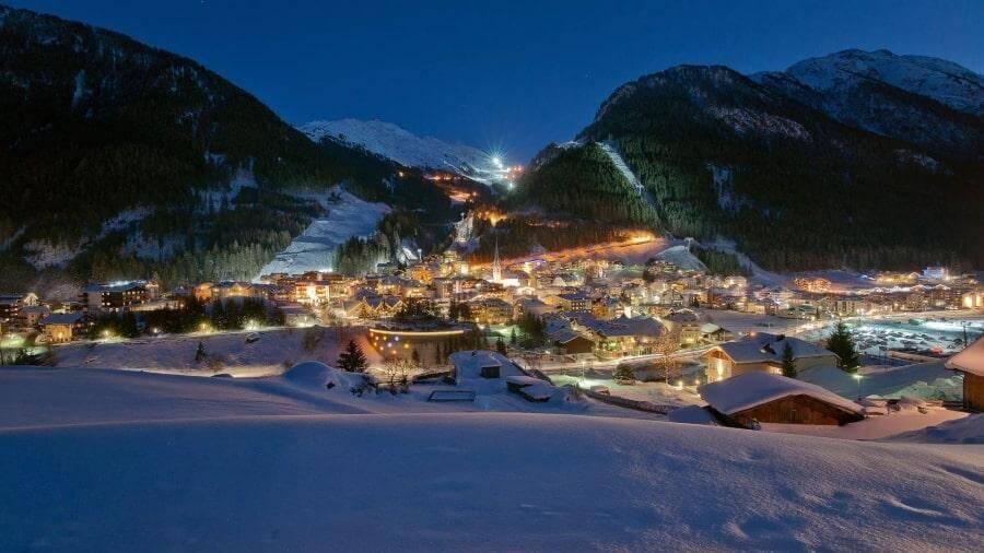 Горнолыжный курорт Ишгль в Австрии